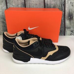 NWT Nike Men's Odyssey Black Floral & Tan SZ 9